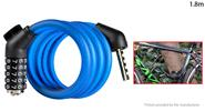 Buy WHEEL UP MTB Bicycle Anti-theft Safety Cable Lock Chain (1.8m) 1.8m, Password Lock, Blue