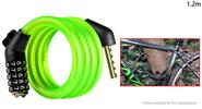 Buy WHEEL UP MTB Bicycle Anti-theft Safety Cable Lock Chain (1.2m) 1.2m, Password Lock, Green