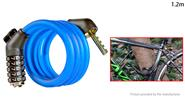 Buy WHEEL UP MTB Bicycle Anti-theft Safety Cable Lock Chain (1.2m) 1.2m, Password Lock, Blue