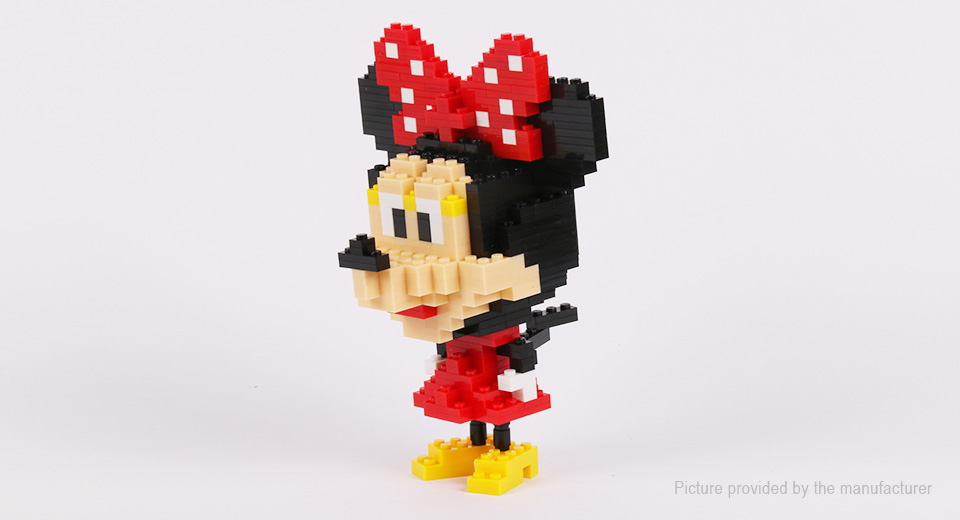 Minnie Mouse Styled DIY Building Blocks Educational Toy