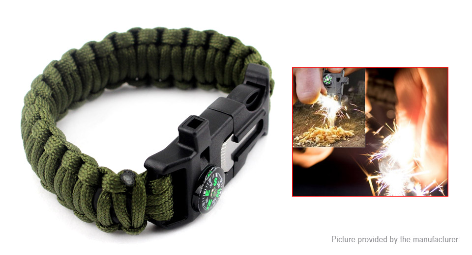 Image of 10-in-1 Outdoor Survival Emergency Paracord Bracelet