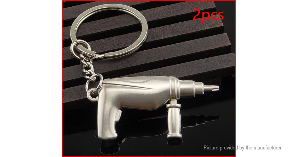 Creative Solid Drill Styled Key Ring Pendant (2-Pack)