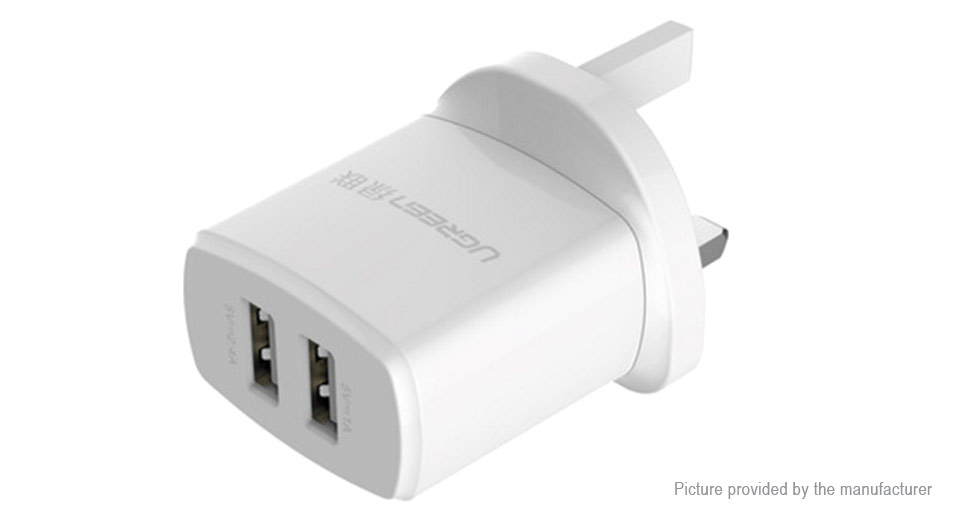 Product Image: ugreen-cd104-dual-usb-charger-power-adapter-uk