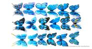 Buy 3D Double-layer Butterfly Styled Wall Sticker Home Decor (12 Pieces) 2-layer Styled, 12 Pieces, Blue