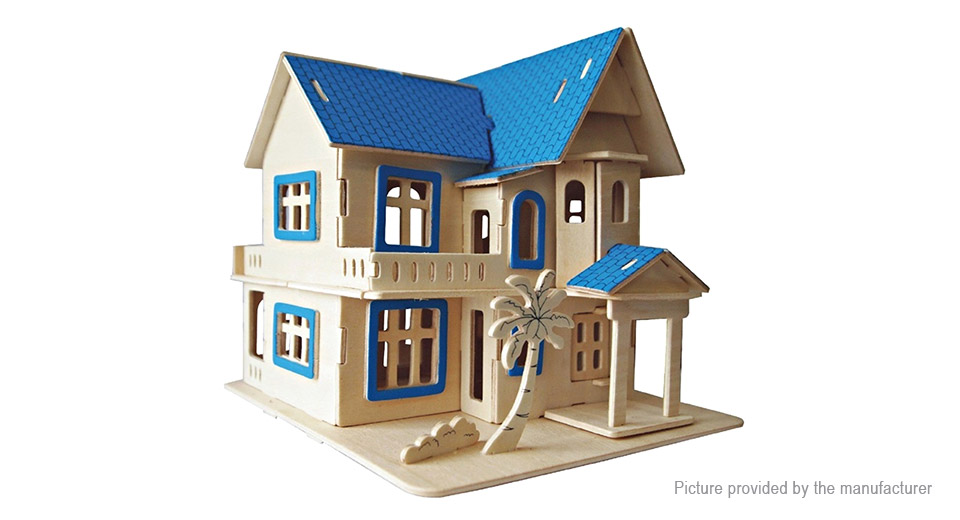 Dream Villa Model Simulation DIY Wooden 3D Puzzle Intelligence Toy