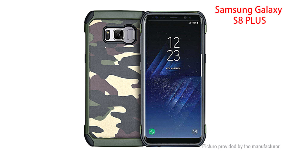 Camouflage TPU + PC Protective Back Case Cover for Samsung Galaxy S8+