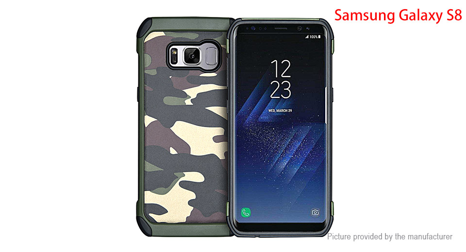 Camouflage TPU + PC Protective Back Case Cover for Samsung Galaxy S8