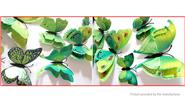 Buy 3D Double-layer Butterfly Styled Wall Sticker Home Decor (12 Pieces) 2-layer (B), 12 Pieces, Green