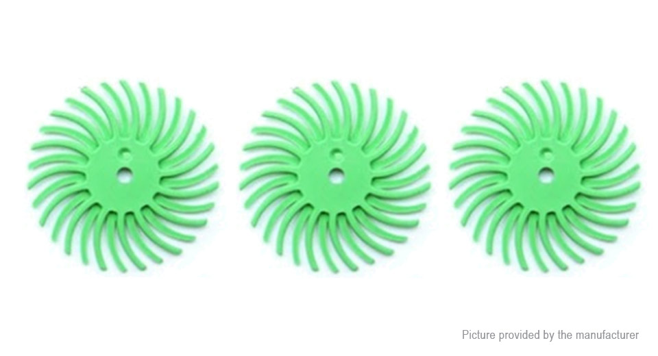 1000 Grits Bristle Disc Brush Polisher Assortment for Dental Wood Jewelry (3-Pack) 1000 Grits, Green, 3-Pack