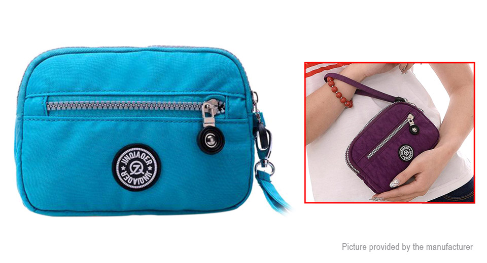 Image of JINQIAOER Nylon Phone Card Holder Wallet Portable Coin Clutch Bag