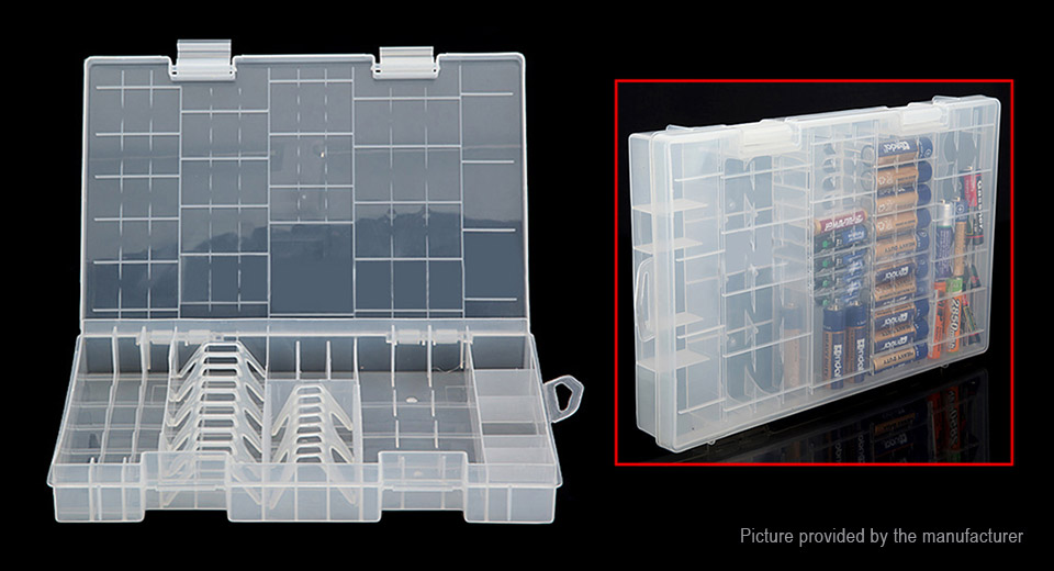 AAA / AA / C-size / D-size / 9V Battery Hard Plastic Holder Case Storage Box