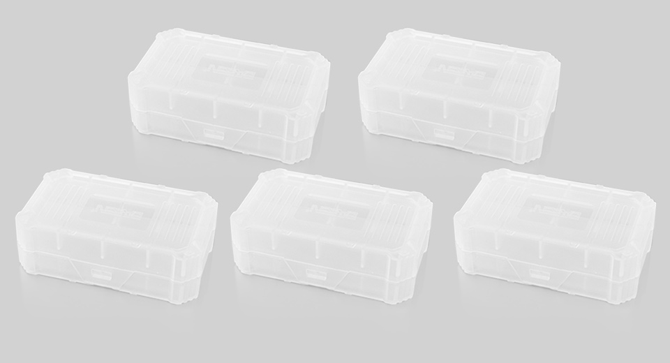 BASEN 2*18650 Protective Battery Storage Case (5-Pack)