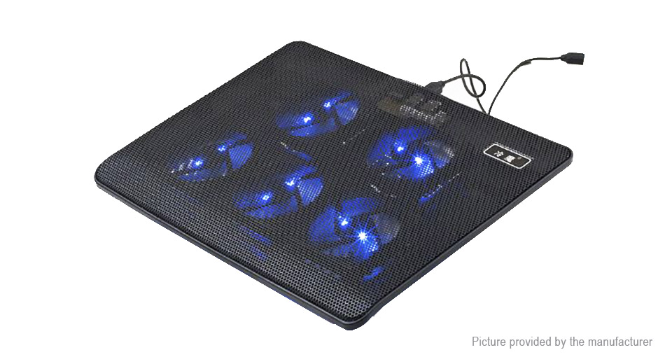 Lengmo M1 5 Fans LED Cooling Stand Pad Cooler for 12-17 Laptop