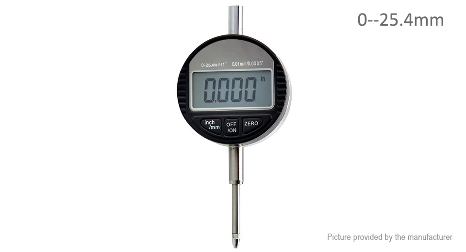 Image of 0-25.4mm Digital Dial Indicator Electronic Dial Gauge