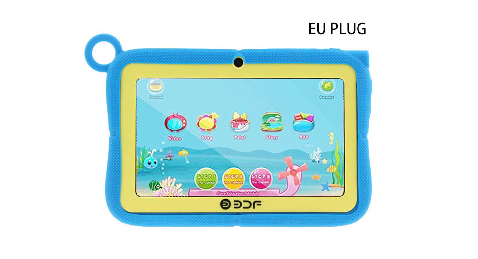 7 Touch Screen Quad-Core KitKat Kids Tablet PC + Stand Case Set (8GB/EU)