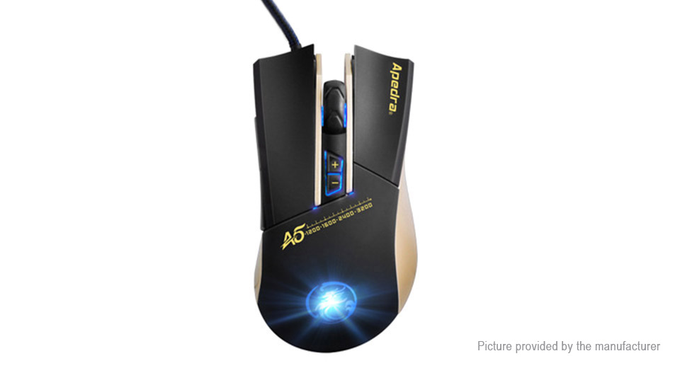 Apedra A5 USB Wired Optical Gaming Mouse