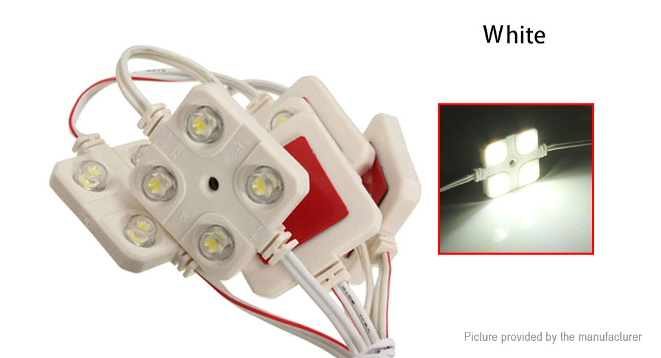 Image of 0.96W 4*5050 SMD 70LM 5500-6500K Pure White LED Light