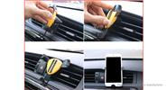 Car Air Vent Mount Gravity Linkage Triangle Fixator Cell Phone Holder Stand