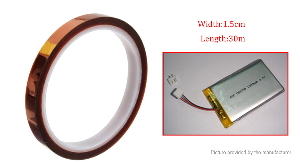 High Temperature Resistant Adhesive Kapton Polyimide Tape (15mm*30m)