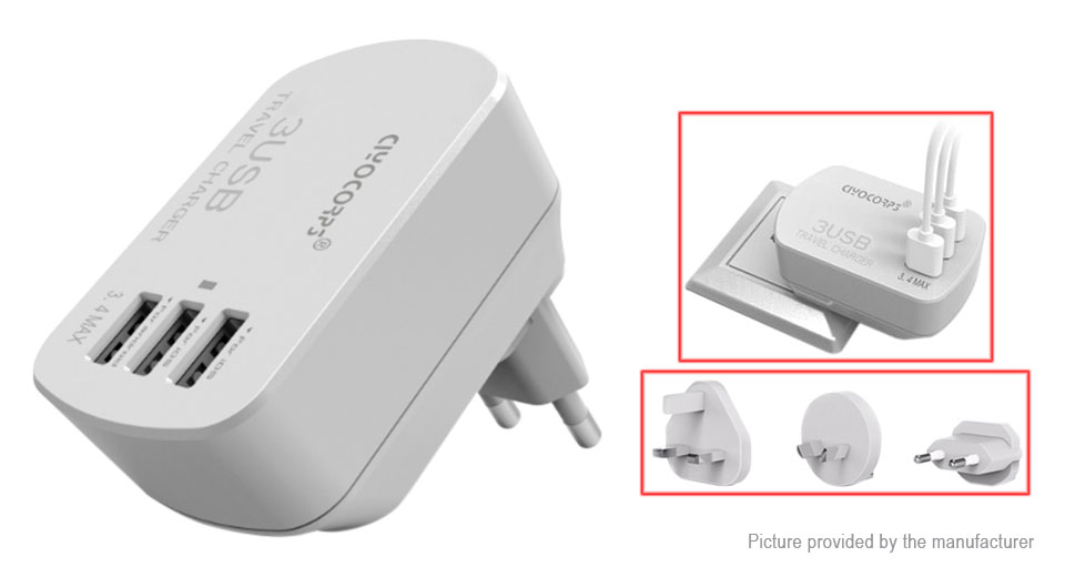 Product Image: ciyocorps-es-d20-3-port-usb-travel-wall-charger-us
