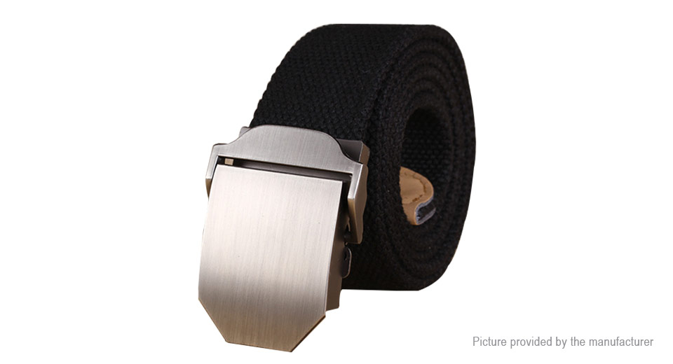 Image of Men's Adjustable Slider Buckle Weave Canvas Belt