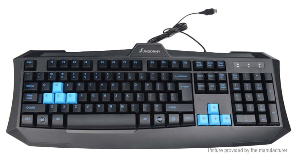 SUNSONNY V90 USB Wired Gaming Keyboard
