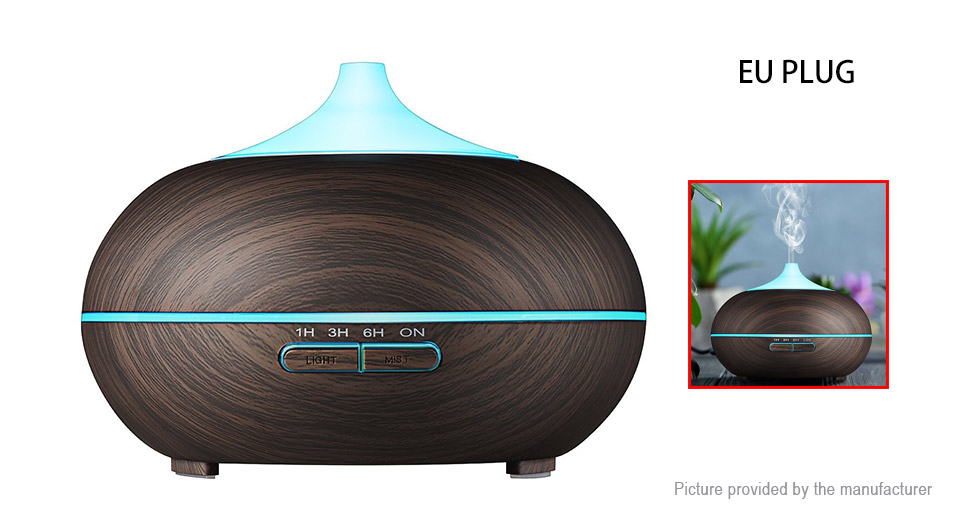 DT-1518 Wood Grain Ultrasonic Essential Oil Aroma Diffuser Air Humidifier (EU)