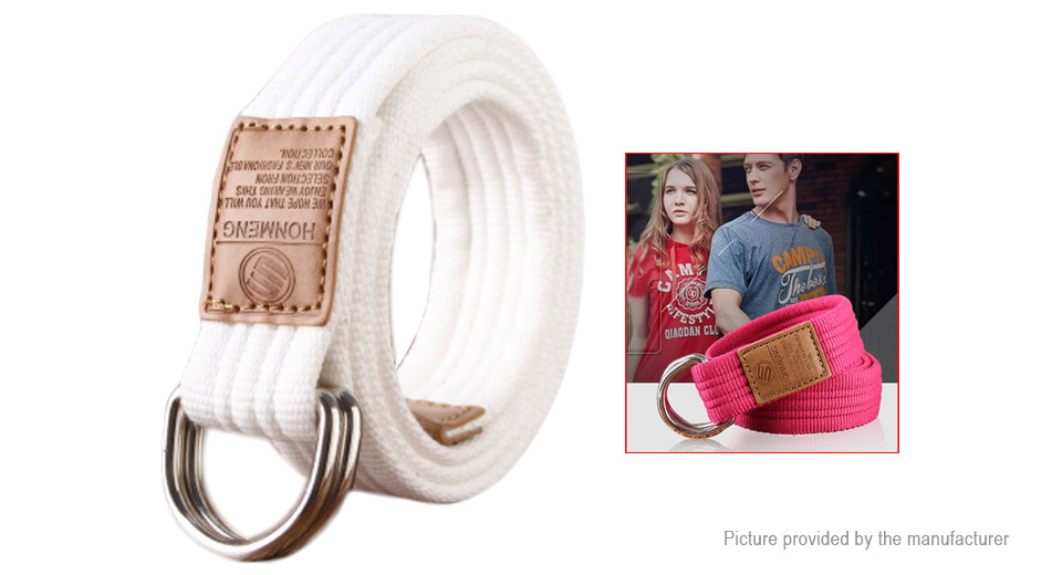 Image of Unisex Double Loop Ring Buckle Casual Canvas Waist Belt
