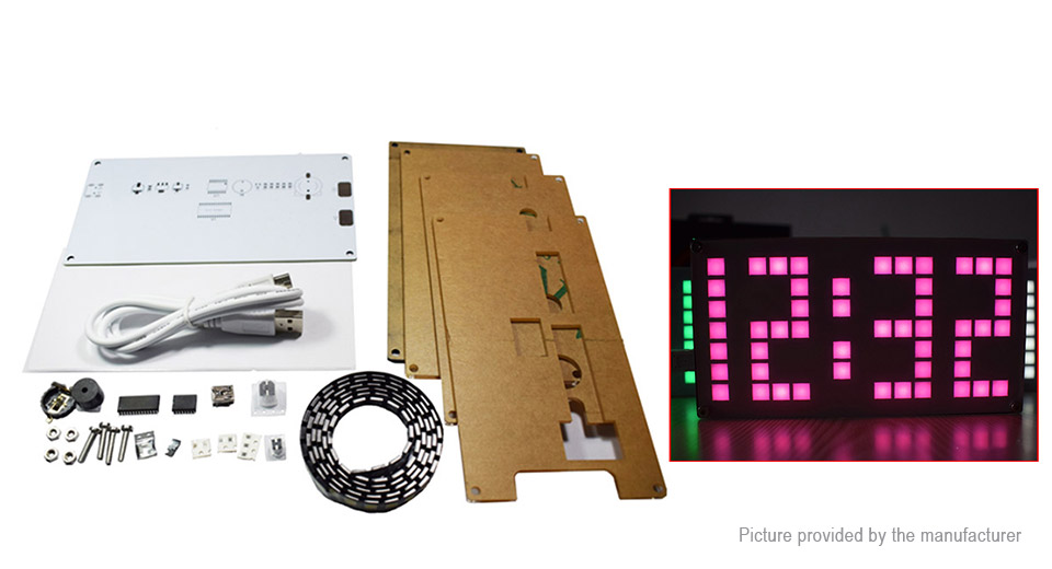 DS3231 DIY Dot Matrix Electronic Clock Set
