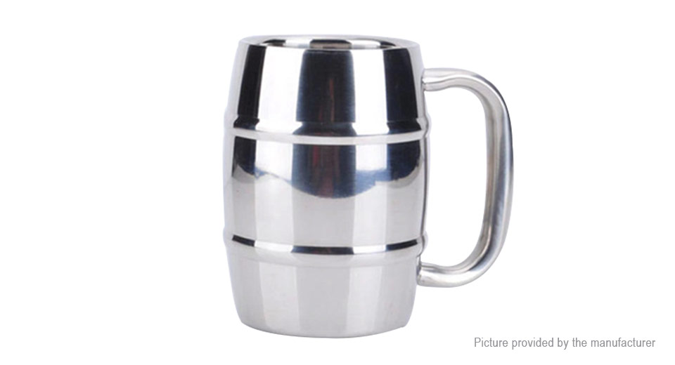 Stainless Steel Beer Cup Coffee Mug (410ml)