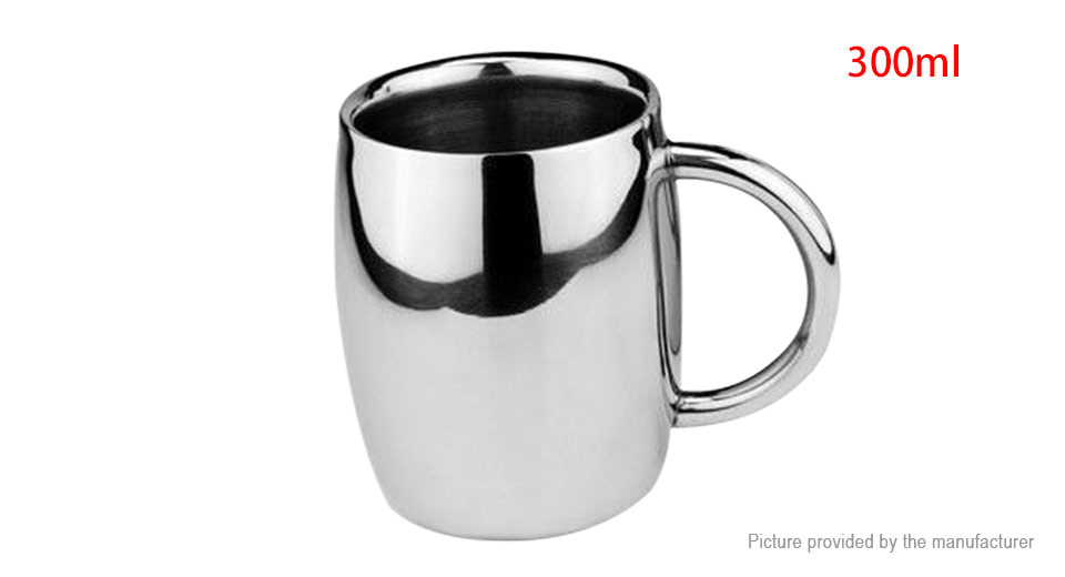 Stainless Steel Beer Cup Coffee Mug (300ml)