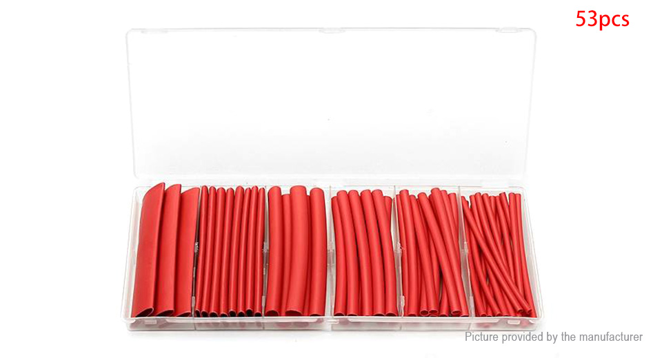 Heat Shrink Tubing Wire Cable Sleeving Wrap Tube Kit (53 Pieces)