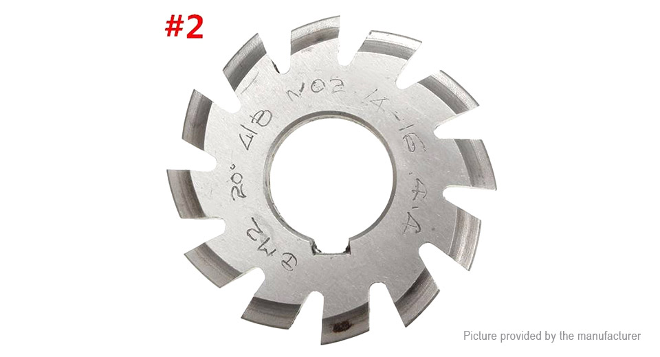 M2 20 Degree 22mm HSS Involute Gear Milling Cutter