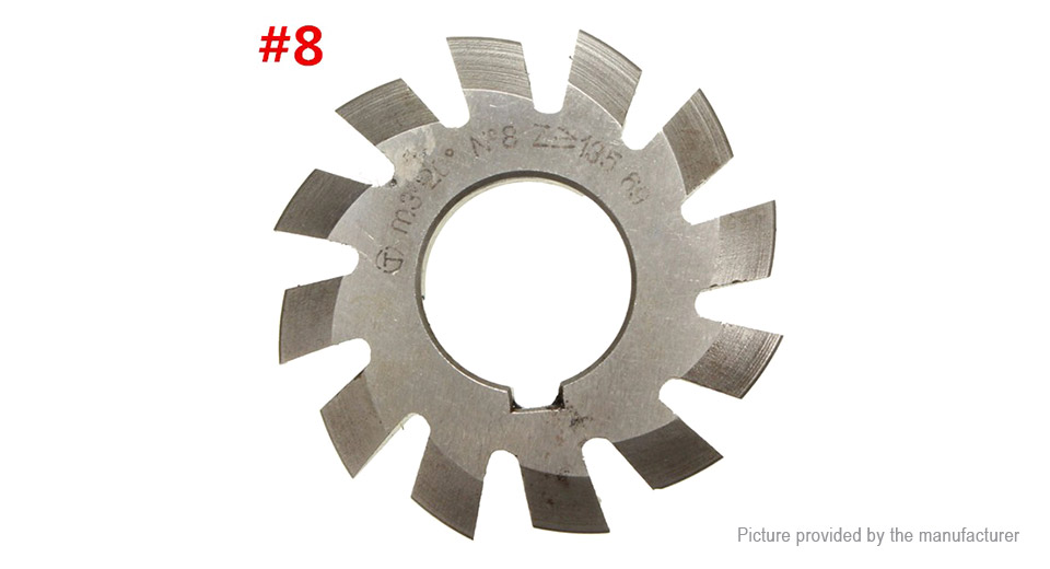 20 Degree 22mm HSS Involute Gear Milling Cutter