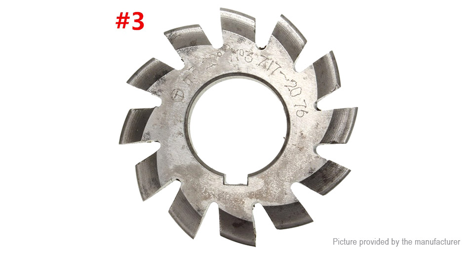 M3 20 Degree 22mm HSS Involute Gear Milling Cutter
