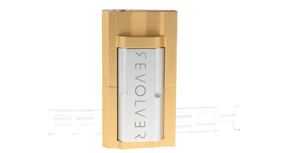Revolver Styled 18650 Mechanical Mod Aluminum + Brass, Gold