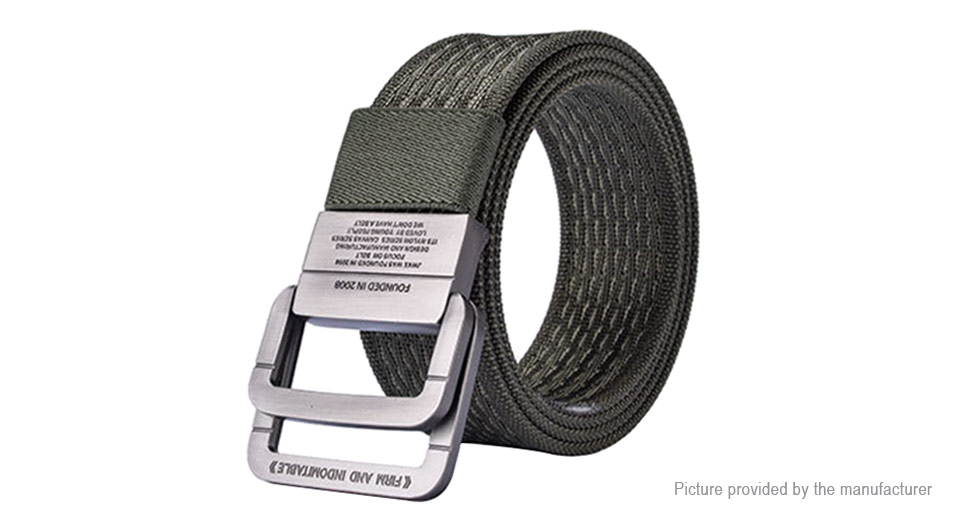 Image of 122cm Men Nylon Double Ring Belt Military Tactical Durable Waistband