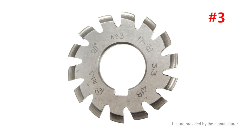 M1.5 20 Degree 22mm HSS Involute Gear Milling Cutter