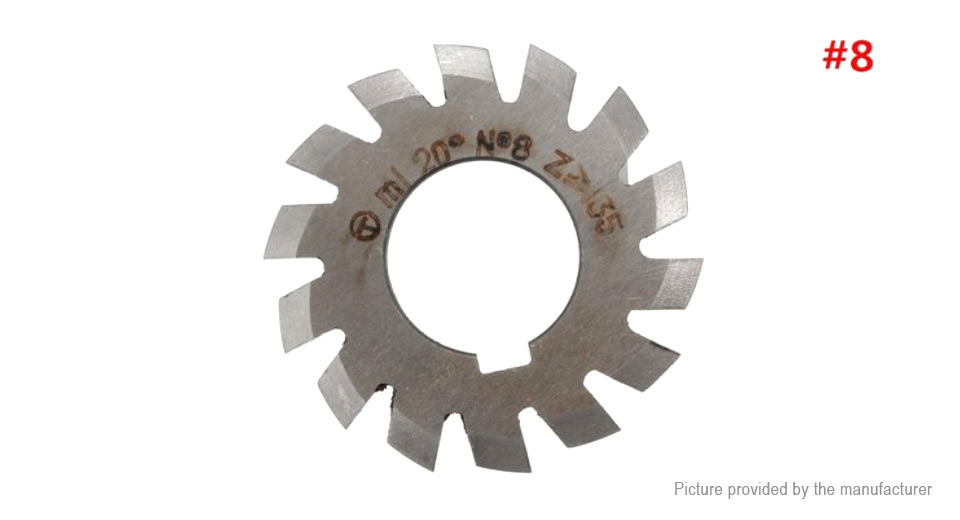 M1 20 Degree 22mm HSS Involute Gear Milling Cutter