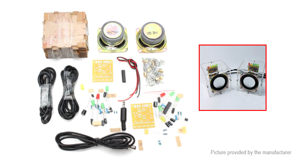 Product Image: diy-mini-translucent-amplifier-speaker-board-kit