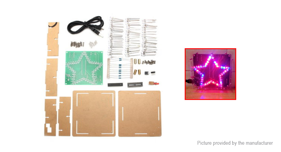 Product Image: diy-51-scm-colorful-led-electronic-star-kit