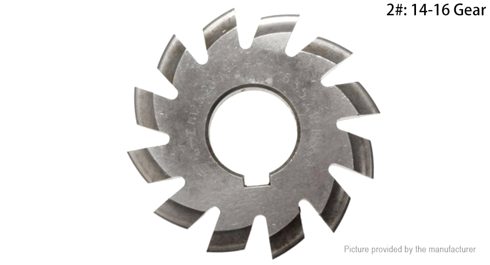 M2.5 20 Degree 22mm HSS Involute Gear Milling Cutter