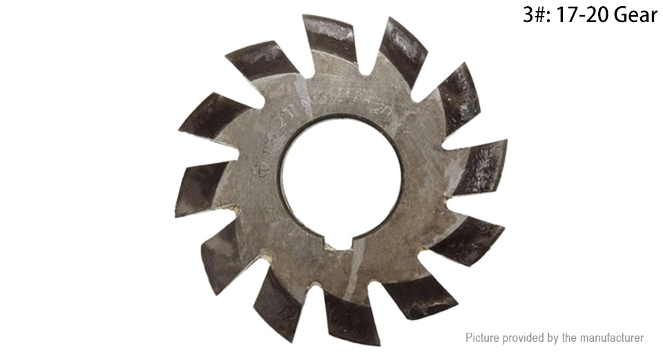 M4 20 Degree 22mm HSS Involute Gear Milling Cutter
