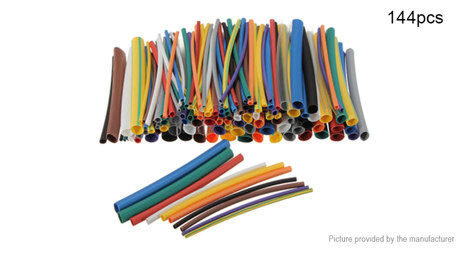 Heat Shrink Tubing Wire Cable Sleeving Wrap Tube Kit (144 Pieces)