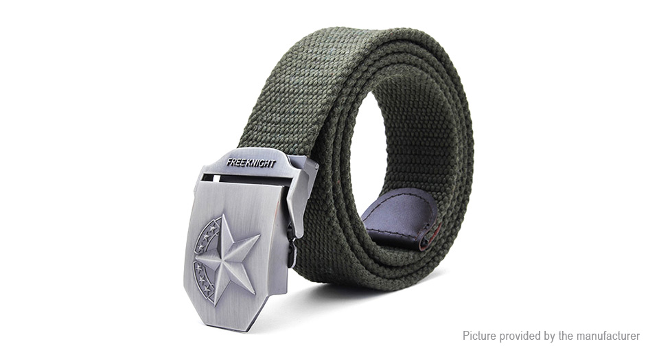 Image of 115cm Men's Extended Thickening Canvas Weaving Buckle Strip Belt