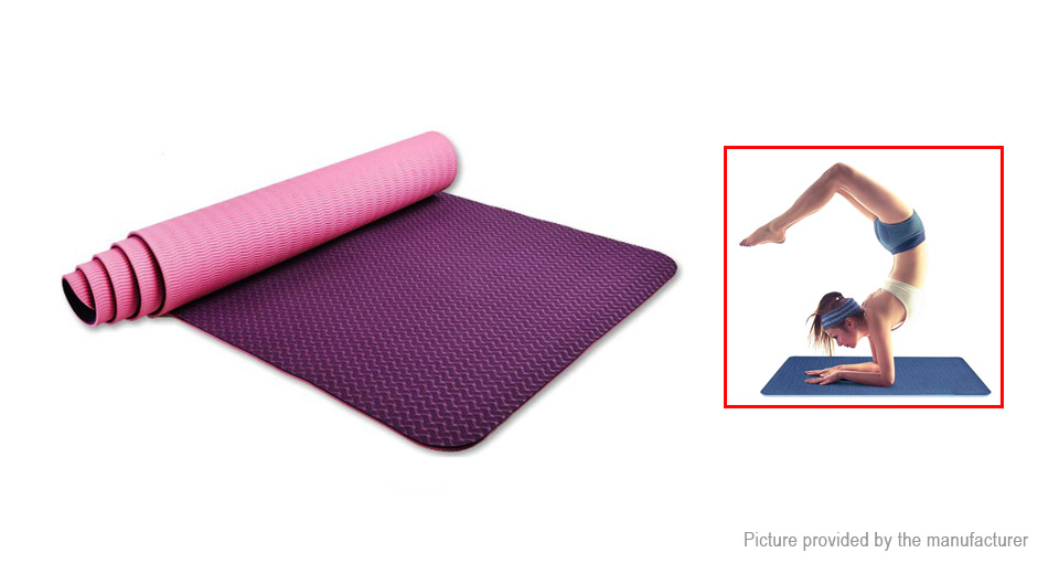 TPE Yoga Mat Thickening Yoga Fitness Mat Two Layers Pad (6mm)