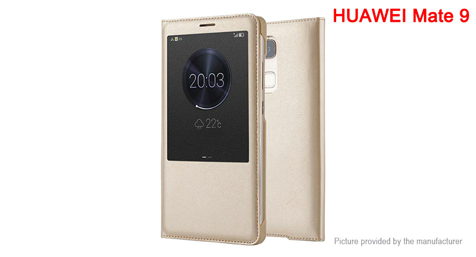 Protective PU Leather Flip-Open Case for Huawei Mate 9 Huawei Mate 9, Champagne Gold