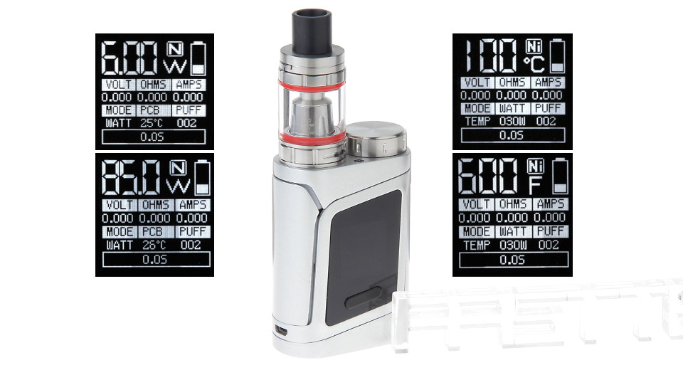 AL85 Styled 85W TC VW APV Box Mod Kit Silver