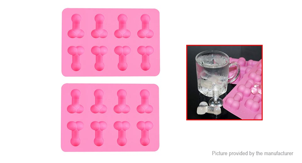 Creative Funny Shape DIY Ice Cube Tray Mold (2-Pack), Creative Funny Styled, 2-Pack, Red