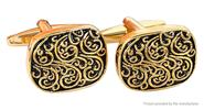 Buy Men's Oval Roman Pattern Cufflinks, Pair Gold, Pair for $1.66 in Fasttech store